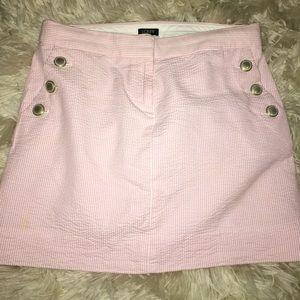 J. Crew Pink striped mini skirt
